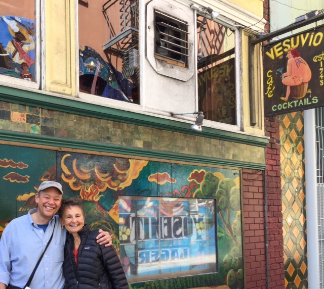In North Beach, with travel writer extraordinaire, Don George.