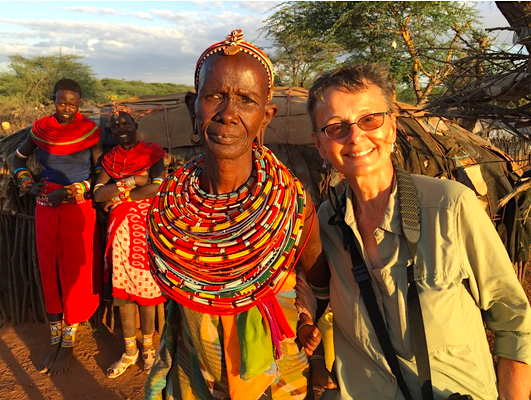 With Samburu friends in Kenya