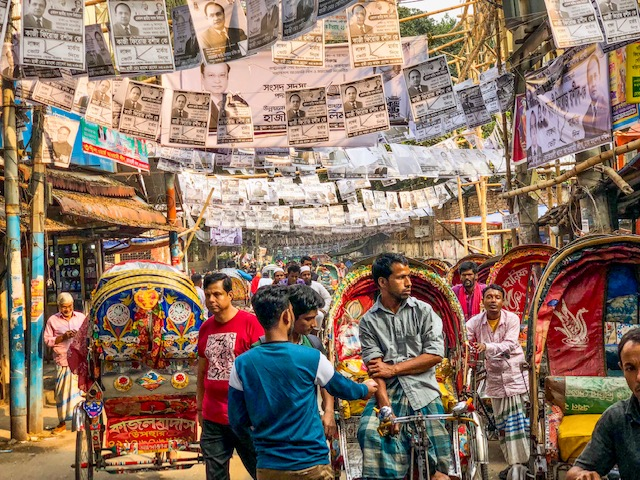 Cities were full of colorful rickshaws and more election posters than could be imagined.