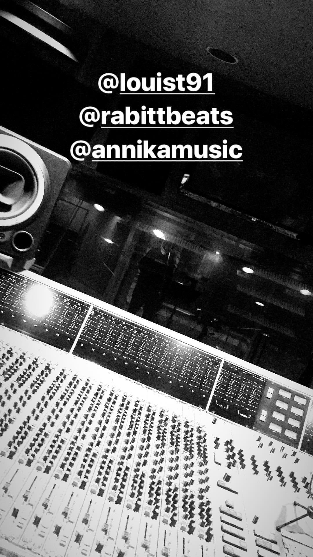 Louis in the Studio