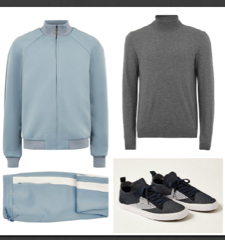 Tracksuit, turtleneck, sneakers by  Topman