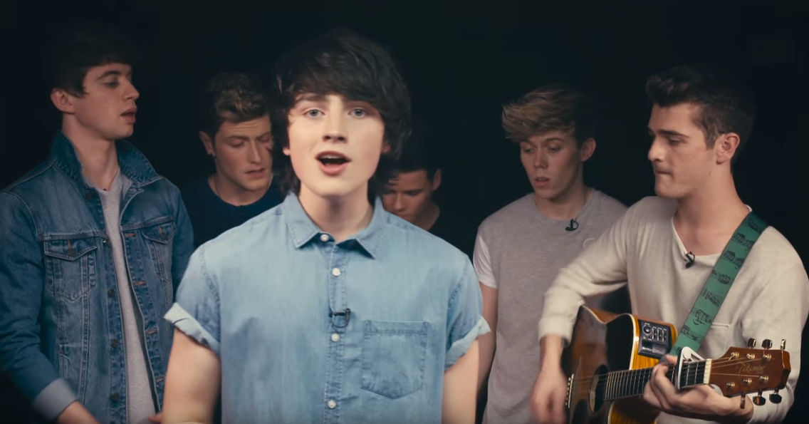 Here's Brendan and Hometown  singing  a cover of One Direction's Drag Me Down