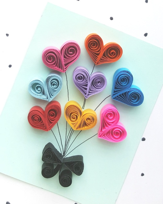 Paper Quilled Heart Card