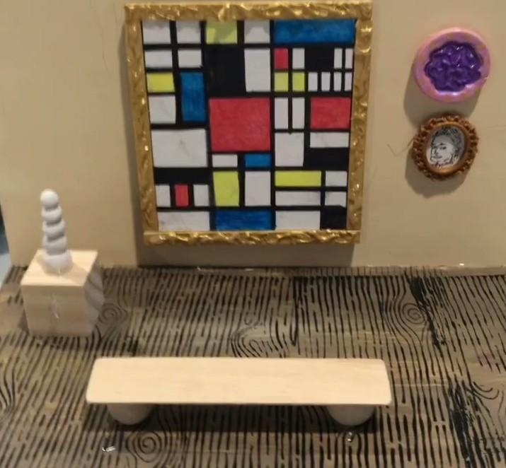 Piet Mondrian Painting in Art Museum Diorama