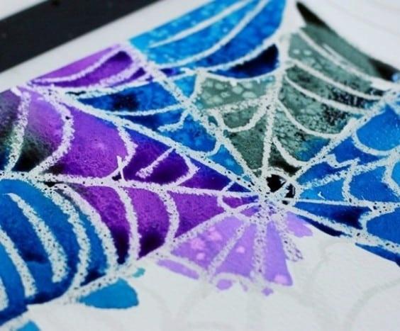 Wax resist spider web - Charlotte's Web