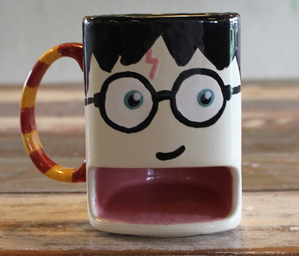 Painted Ceramic Mug based on the Harry Potter Series