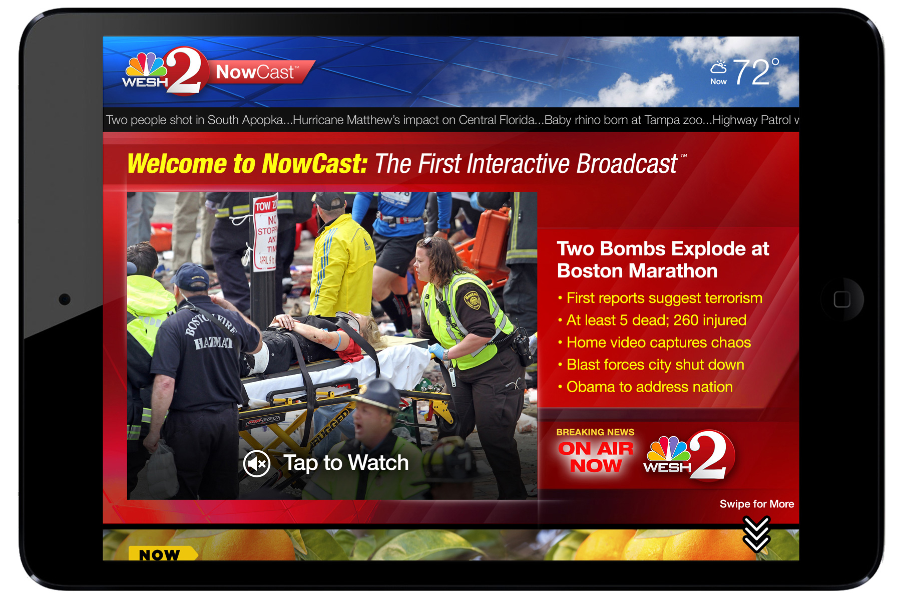 Breaking News State    preempts any stream with LIVE emergency broadcast.