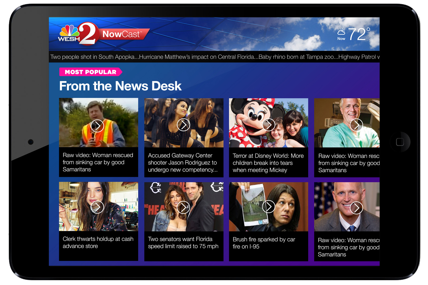 News Desk    module allows user to stream any story from past week on demand.