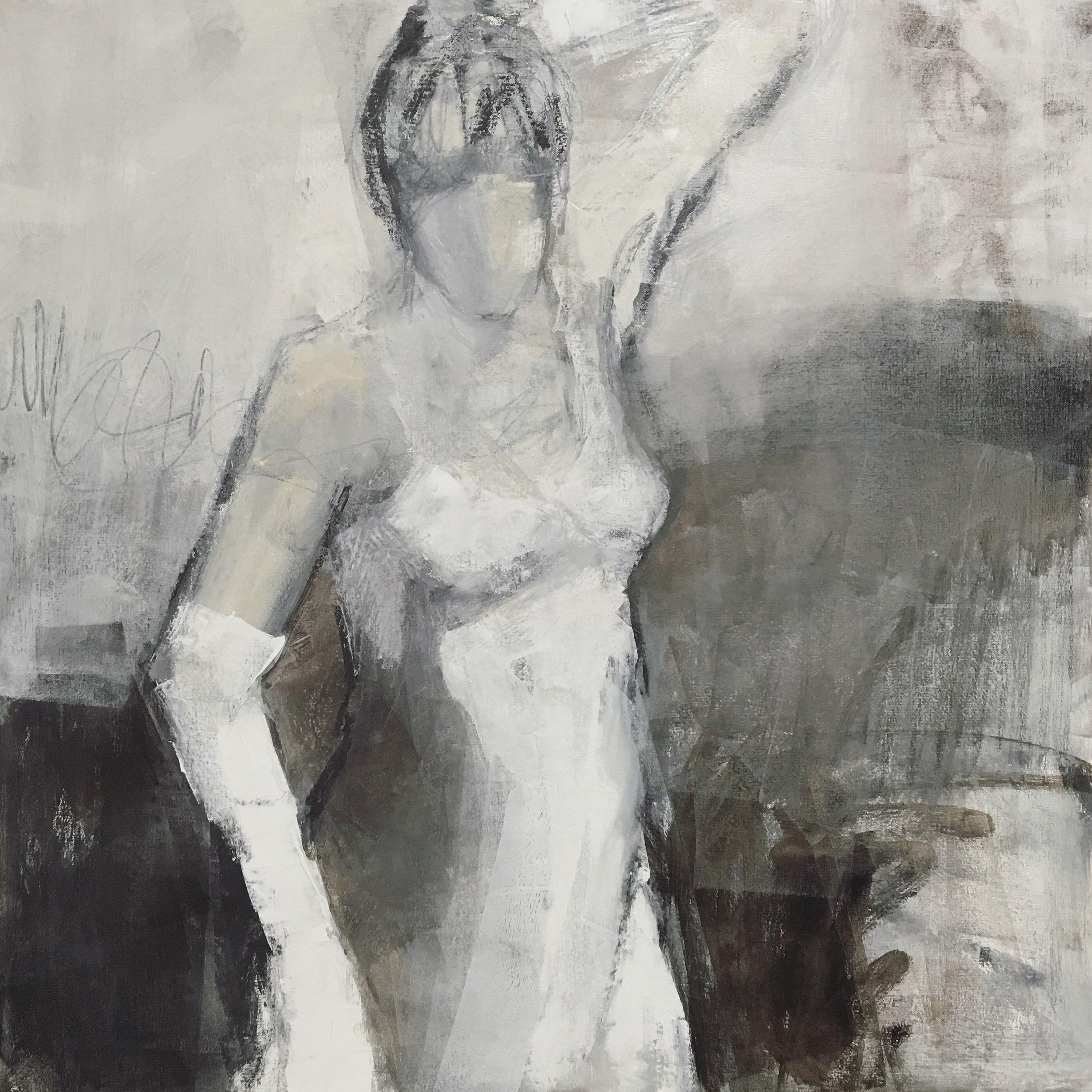 """""""Girls In White Dresses I"""" 27 x 27"""