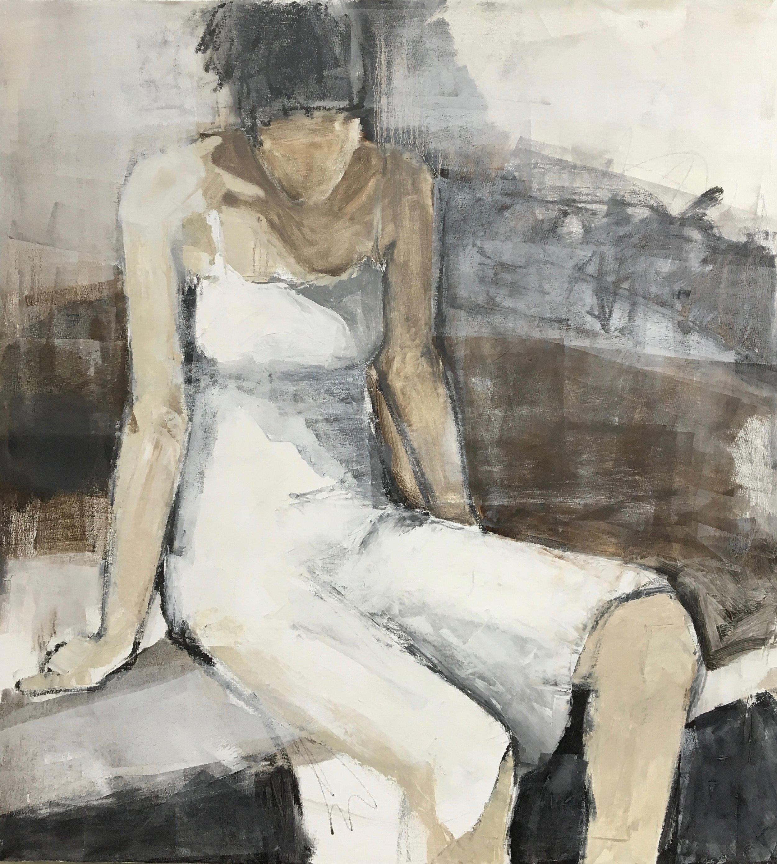 """""""Girls In White Dresses II""""  36 x 33"""