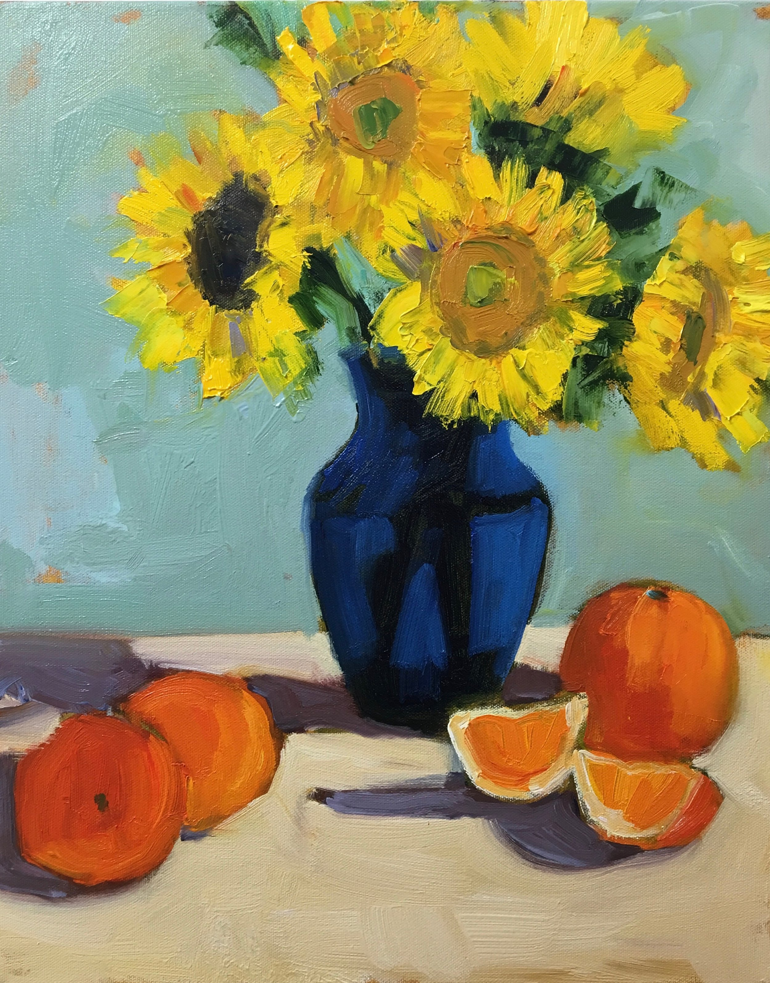 """DEMO FROM """"LOVE YOUR OILS"""" SERIES, THE FUNDAMENTALS OF OIL PAINTING #OP101"""