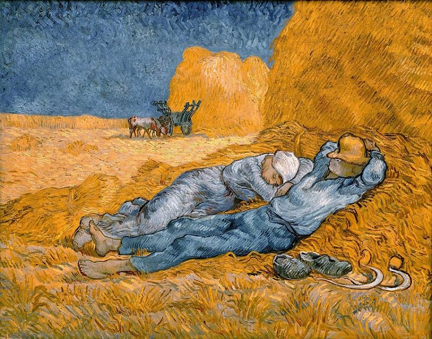 Noon - rest from work - Vincent van Gogh.jpg