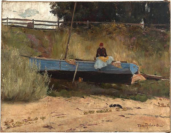 Tom_Roberts_Boat on beach, Queenscliff c.1887.jpg
