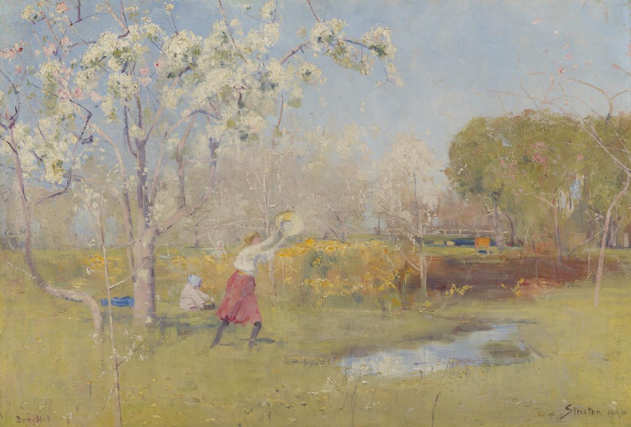 Arthur STREETON - Butterflies and blossoms -1889.jpg