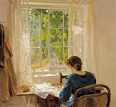 Hans Heysen - Sewing (The artist's wife) - 1913.jpg