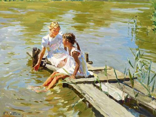 Yuri Krotov_summer-by-the-rivers-edge.jpg