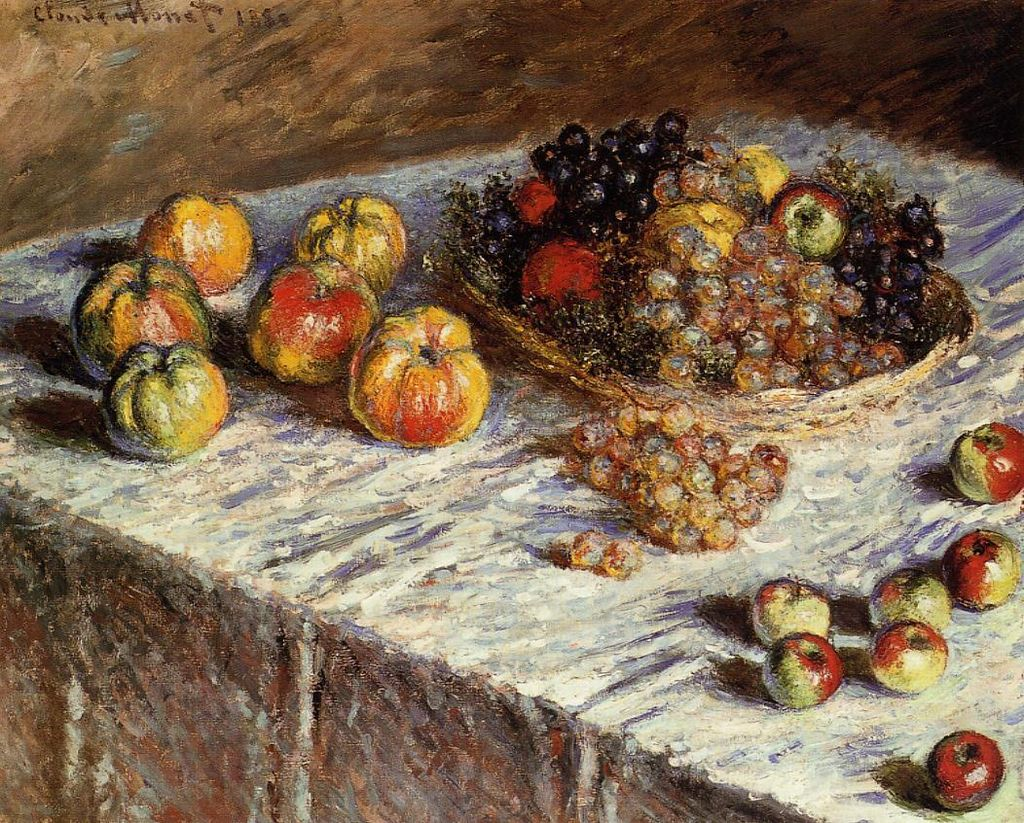 Claude Monet - Still Life with Apples and Grapes - 1880.