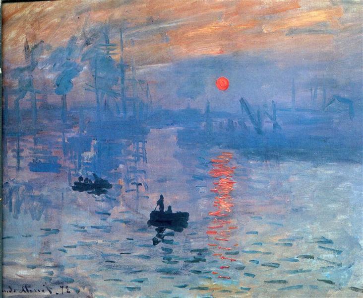 Claude Monet - Impression, sunrise, 1873.