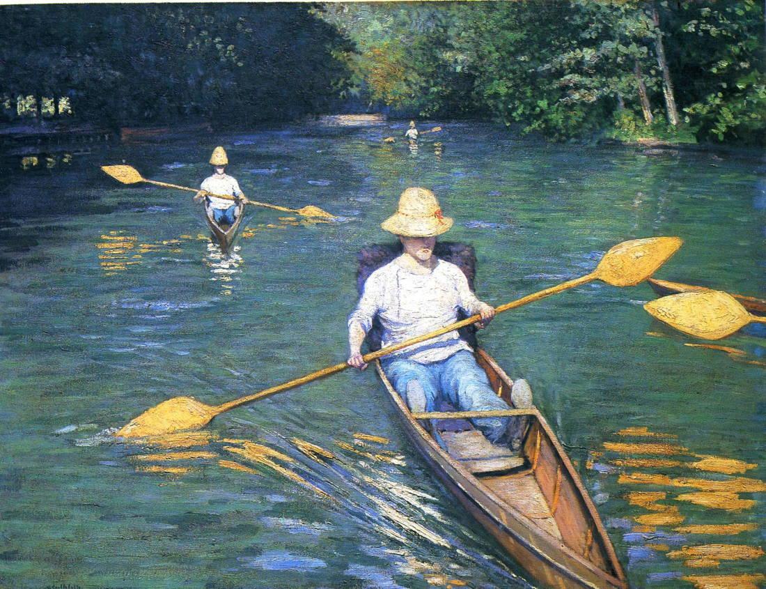 Gustave Caillebotte - Skiffs on the Yerres