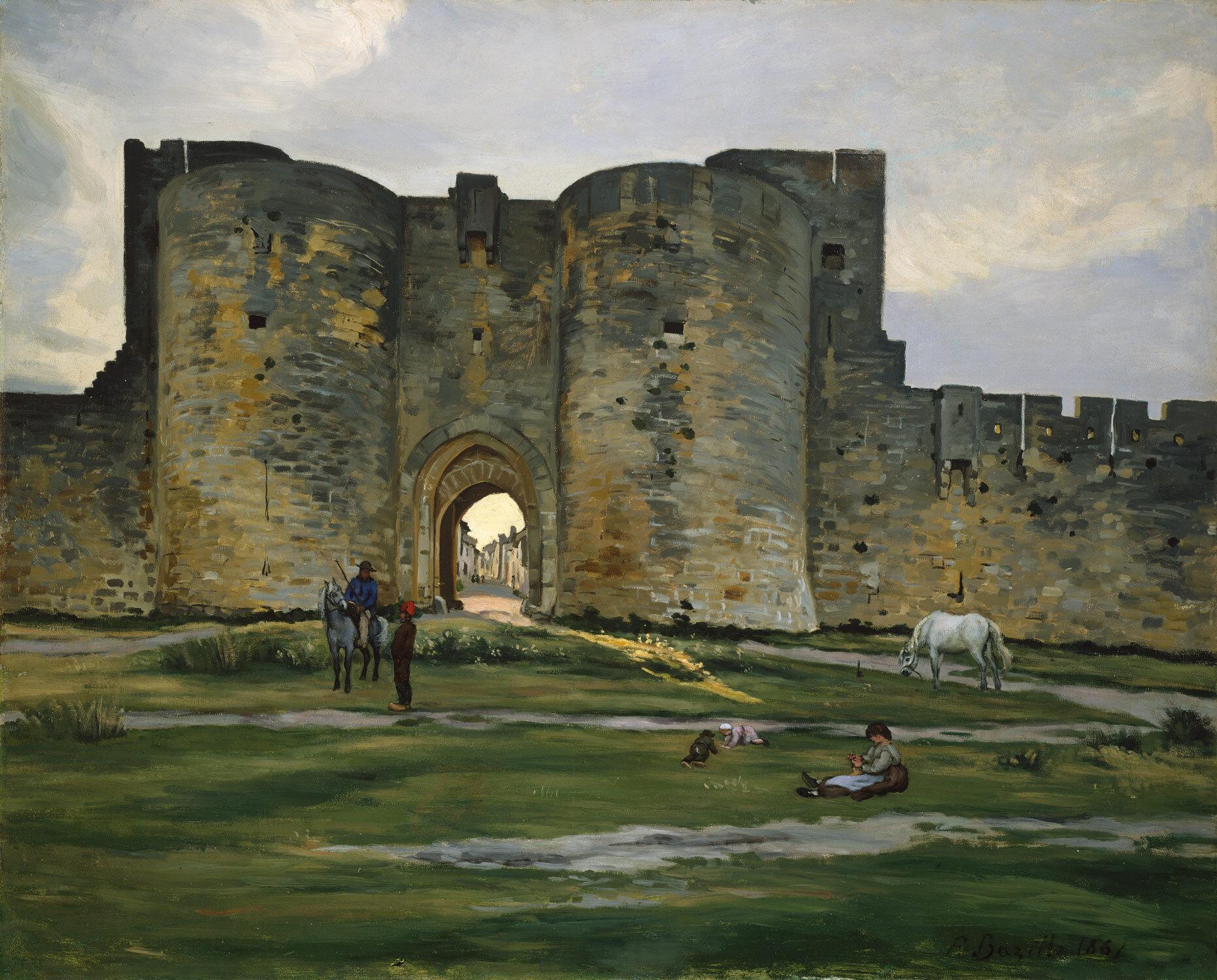 Jean-Frederic Bazille - Porte de la Rein at Aigues-Mortes - 1867