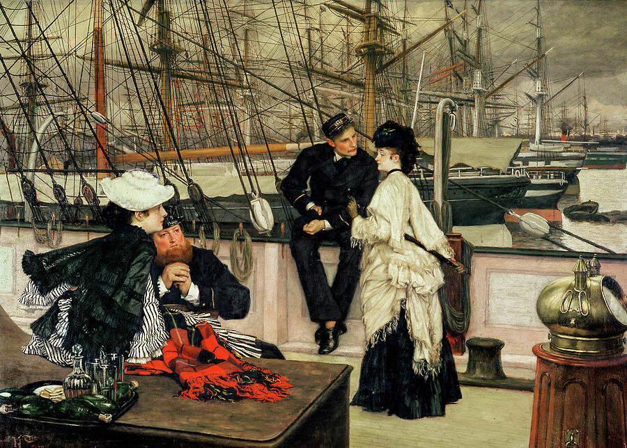 James-Tissot - The-Captain-and-the-Mate -1873