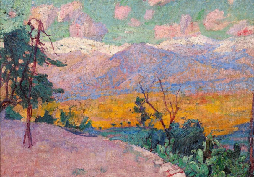 John Russell - The terraces of Monte Cassino c1889