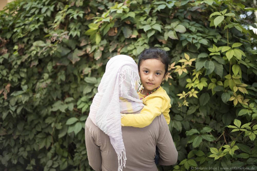 Fatima mit Tochter Aseel