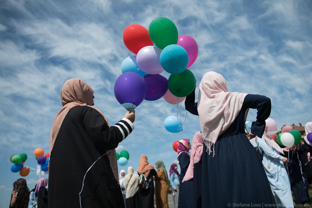 Protest gegen Kopftuchverbot
