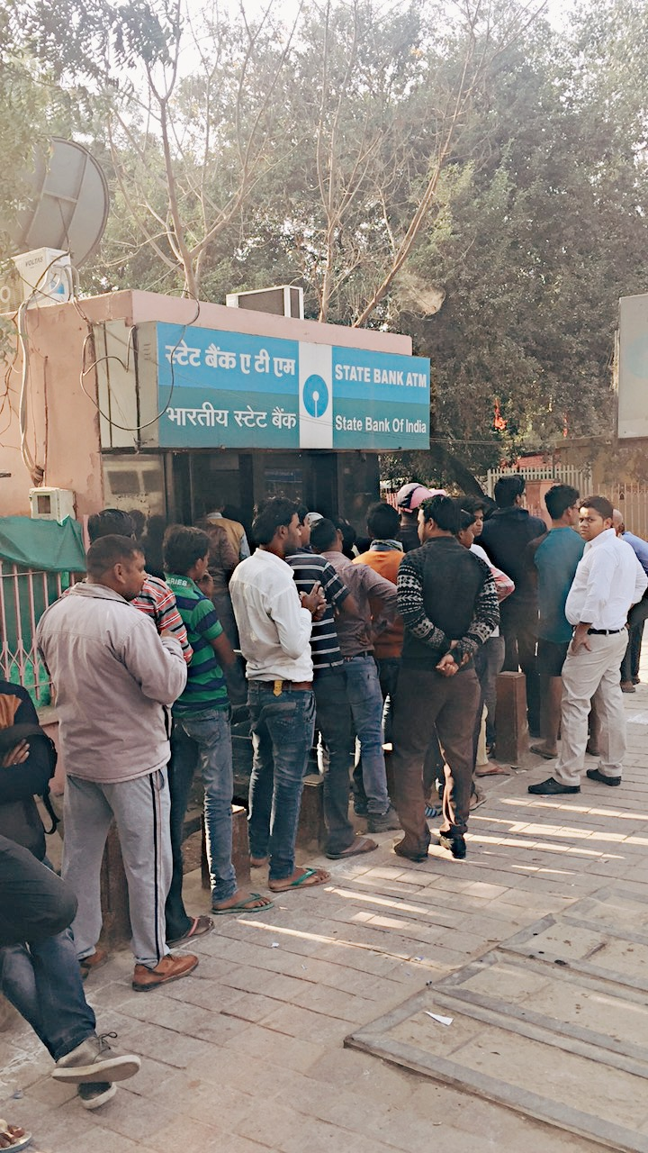 Hour long lines at any ATMs rumored to have cash
