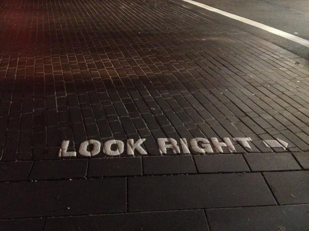 Every crosswalk – fortunately.