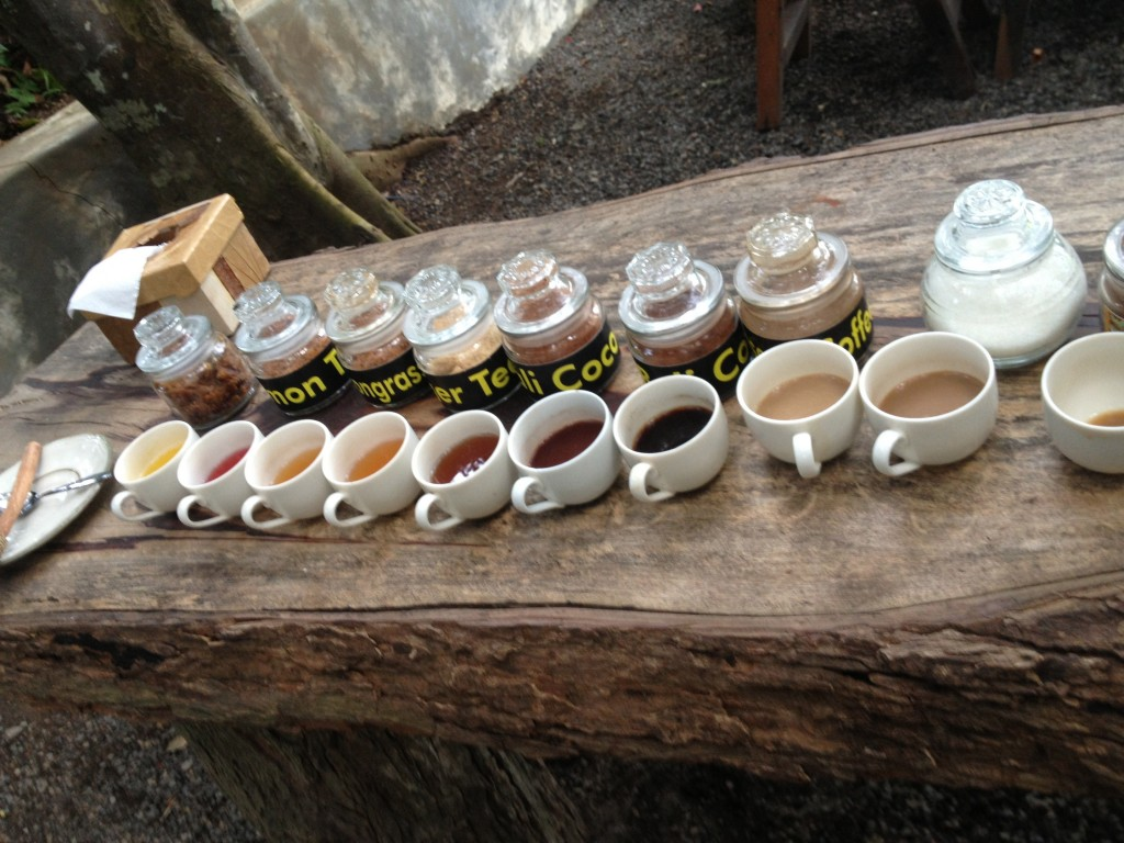 This farm makes teas, chocolate, and other more normal coffees.