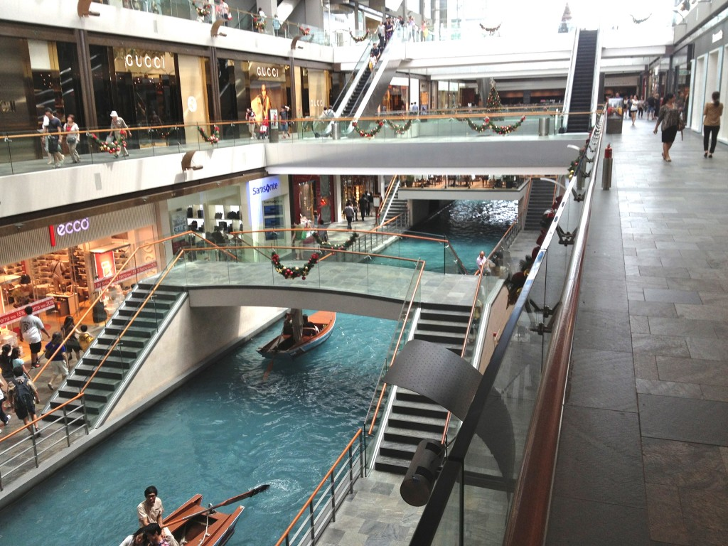 River in one of the shopping malls.