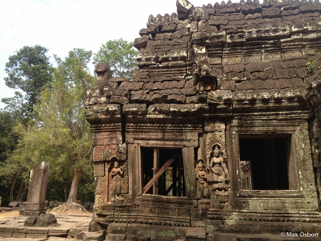 These temples are crumbling under the pressure of the trees growing directly out of the foundations.