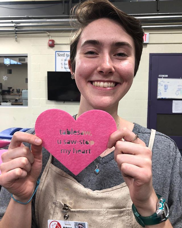 Monitor Erin Cole with one of the incredible punny hearts around the BDW this week. How many can you find?