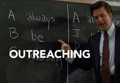 Alec Baldwin says, Always Be Outreaching. (Coffee is for outreachers?)