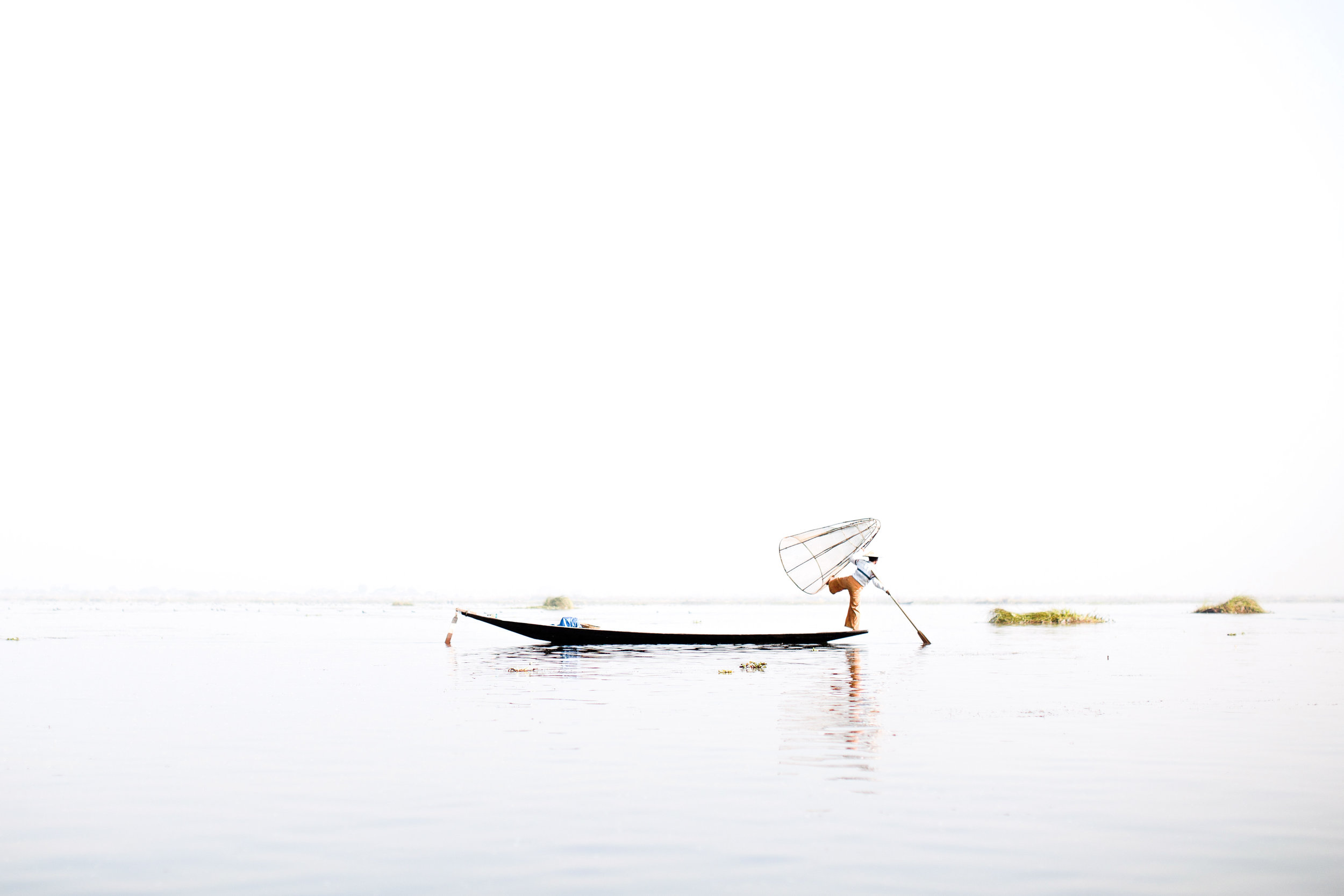 inle lake - A vast, serene lake home to the Intha people, praised for their unique fishing technique. Quiet floating villages dot the lake, holding some of Myanmar's best handmade crafts workshops. Beyond Inle lie the rolling hills of Shan State, populated by the unique tribal minorities of Myanmar.