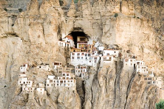 Zanskar - Hues of brilliant blue and dusty brown paint the isolated region of Zanskar, best explored trekking and river rafting along Tibetan-style monasteries perched on vertiginous cliffs.