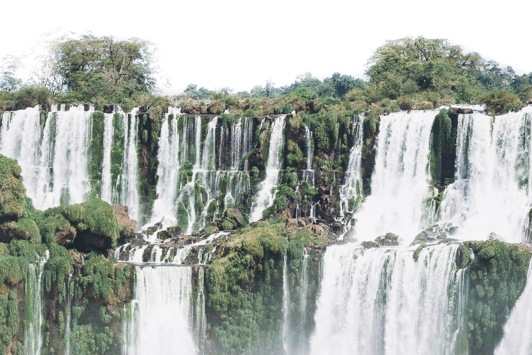 Iguazu Falls - A visceral experience of raw power and earthly beauty, a total of 275 individual terraced waterfalls that sit at the frontier of Brazil, Argentina and Paraguay.