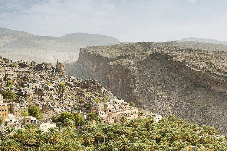 Jabal Akhdar - The Saiq Plateau is home to charming villages and welcoming locals who see the mountains flourish with fragrant orchards of roses, apricots and walnuts.