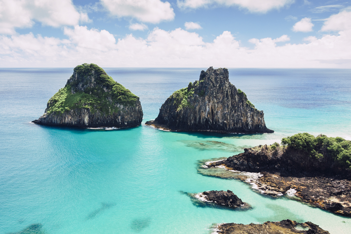 Fernando de Noronha - A volcanic archipelago, this UNESCO site holds a beautiful yet delicate eco-system of volcanic rock and unsullied turquoise waters, a paradise for divers.