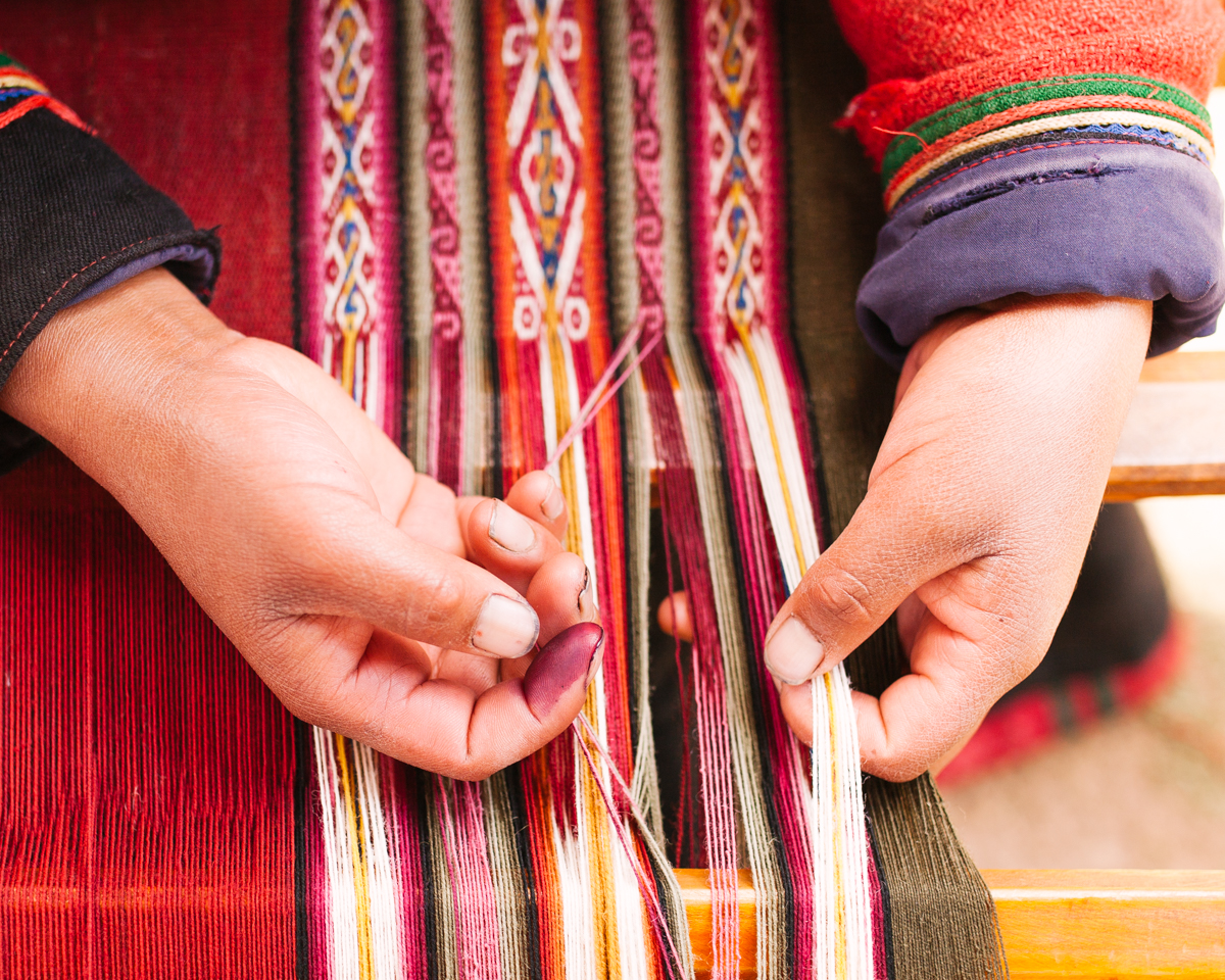 Peru - Peru's sacred valley is a rich and fertile land still inhabited by the indigenous Qechua people, who have been specializing in textile making since before the Spanish colonization. Their garments are a statement of identity and history, filled with ancient craft methods and stories weaved into the patterns.
