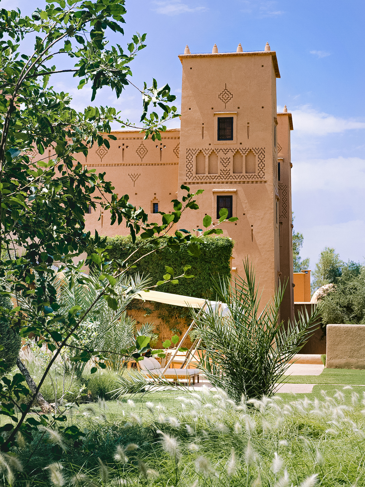 Skoura Valley - Tucked in the Ouarzazate region of southern Morocco is the paradisiacal oasis of Skoura. The valley's adobe villages are fringed with palm groves, orchards and wheat fields. Hike through the oasis with local guides up to stunning viewpoints and experience the strikingly different local culture. Visit the local market, enjoy picnic lunches and take a tour of the kasbah's that dot Skoura.