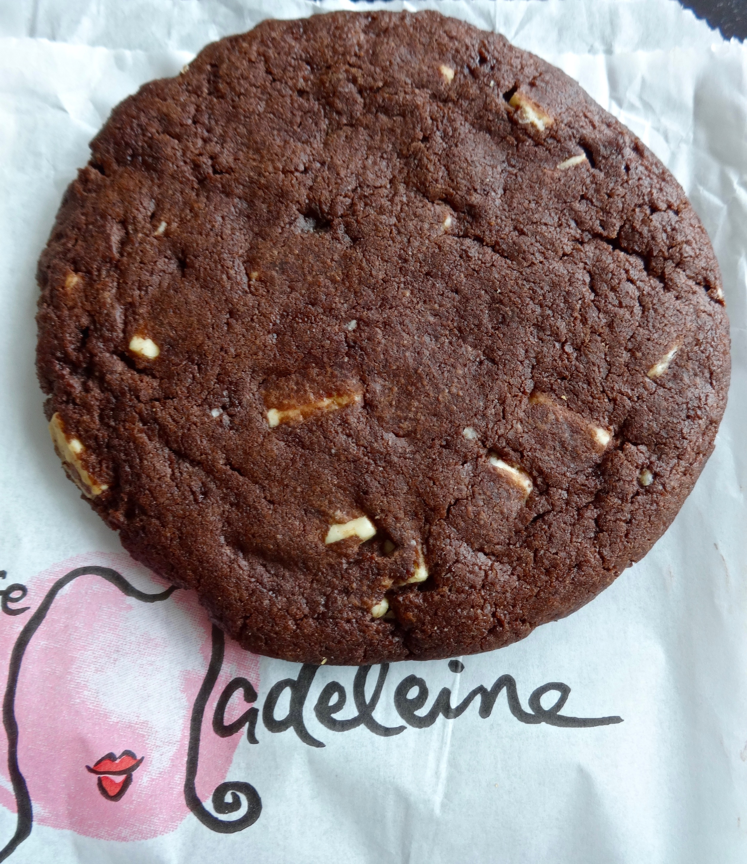 double chocolate with white chocolate chips cookie