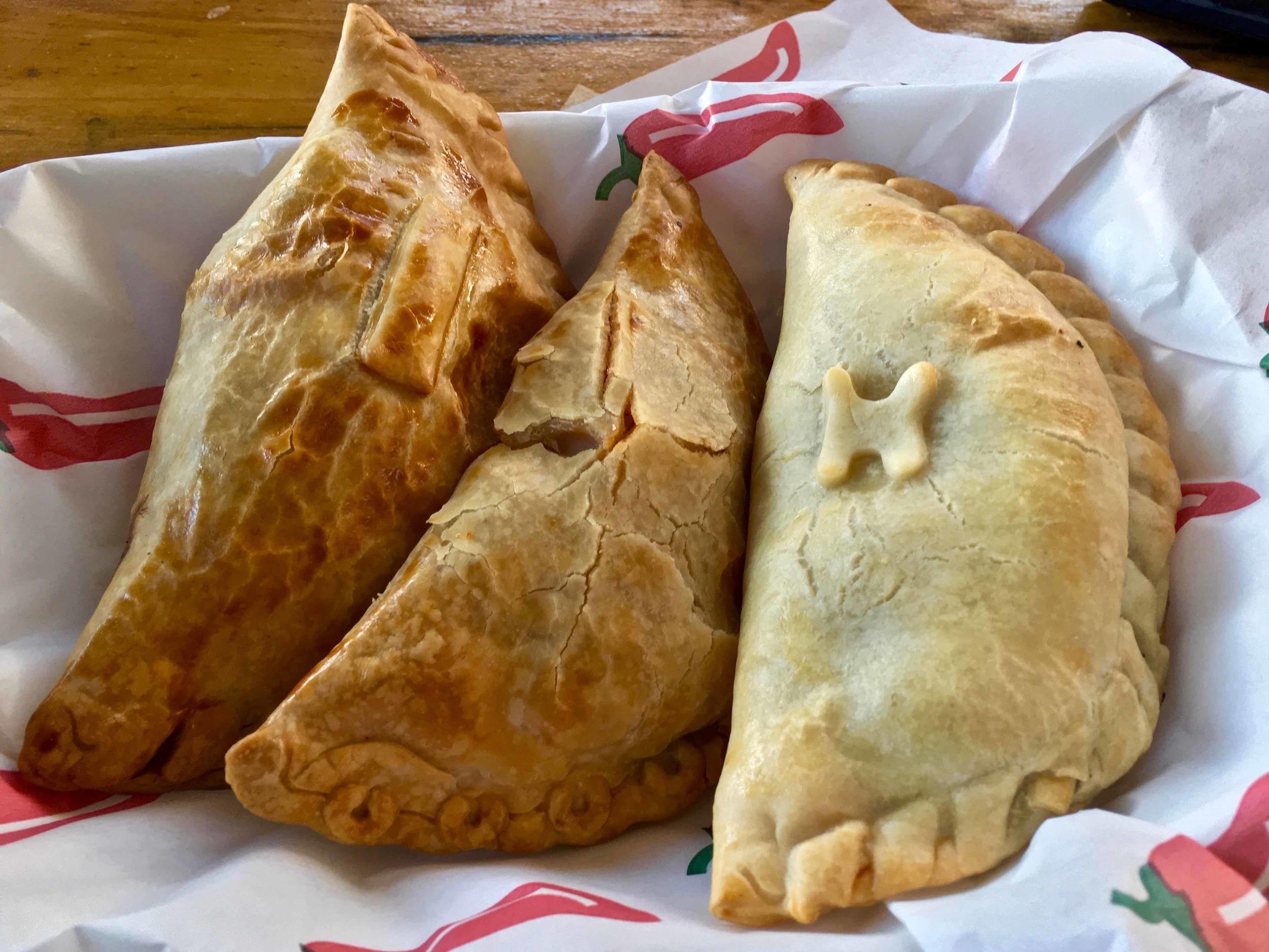 empanadas from Nucha food truck