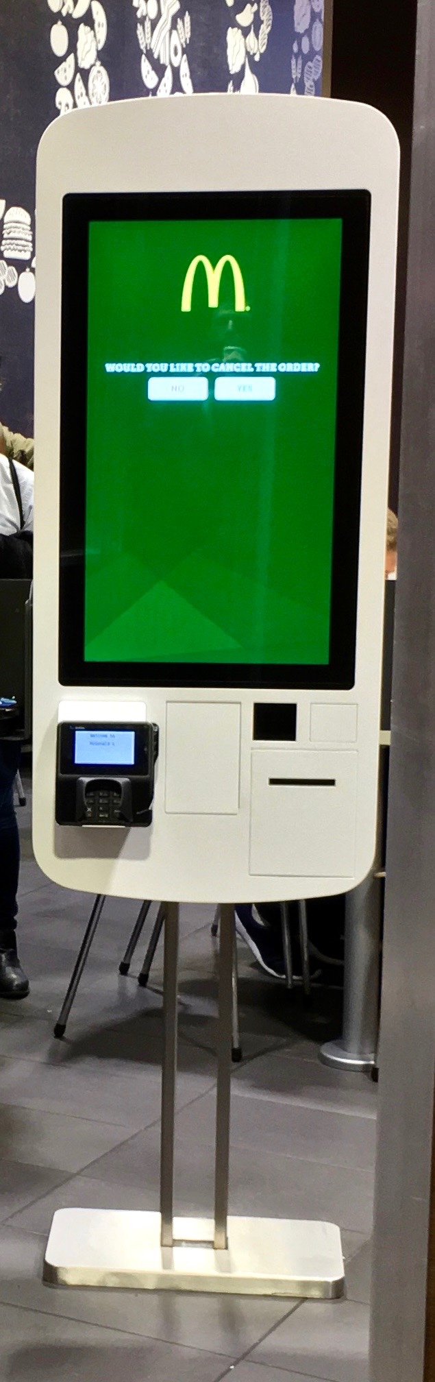 create your own burger order machine at McCafe
