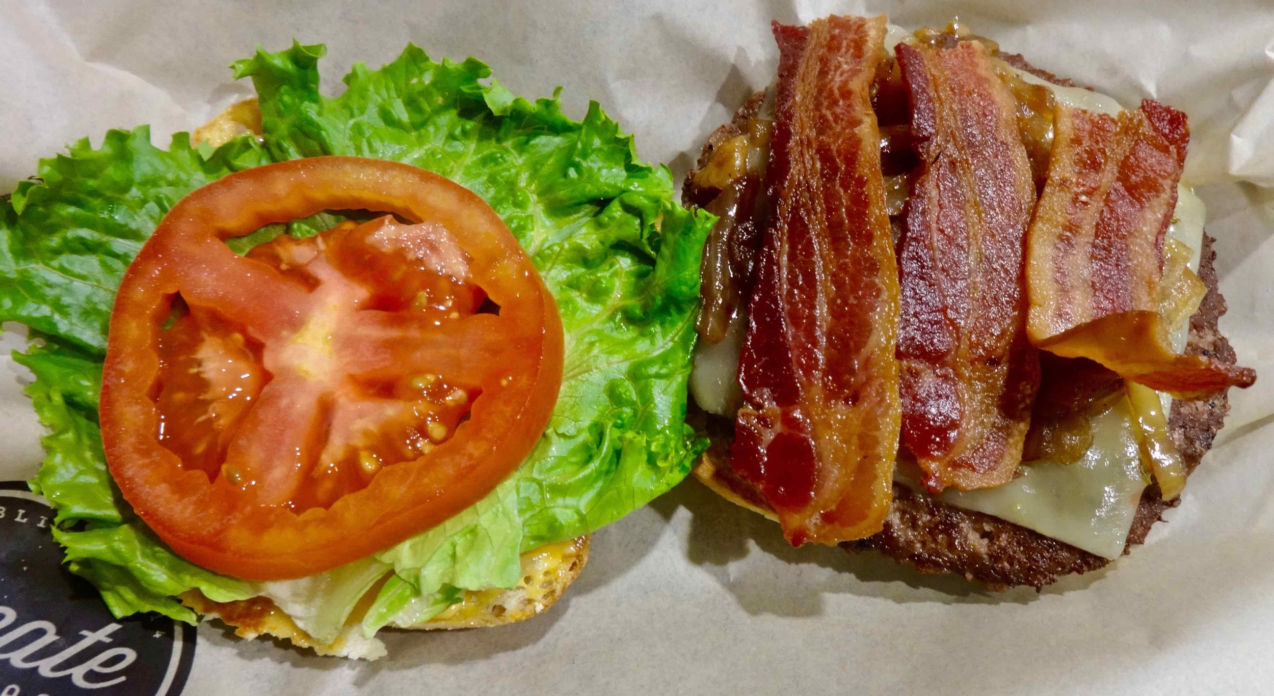 bacon cheeseburger from McCafe