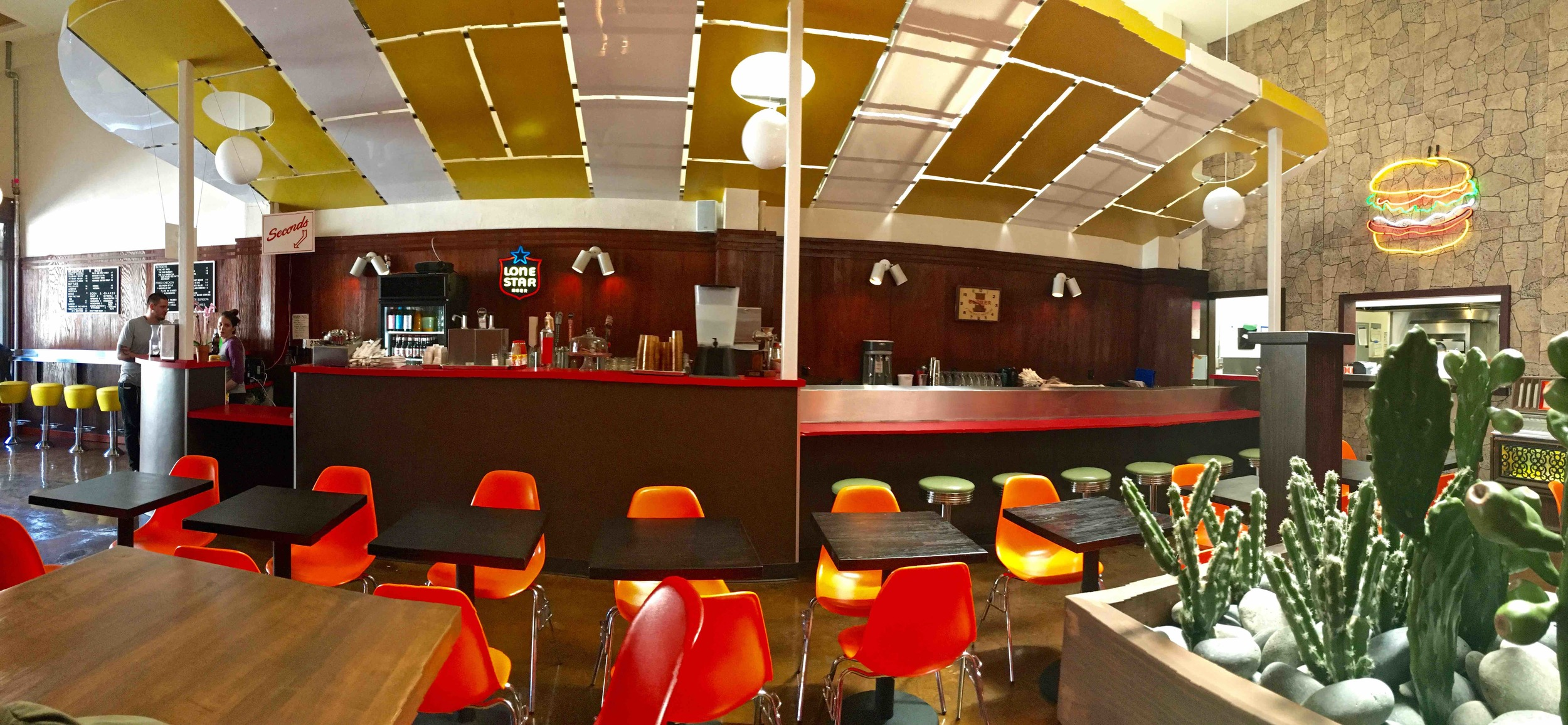 inside Wes Burger 'N More in the Mission