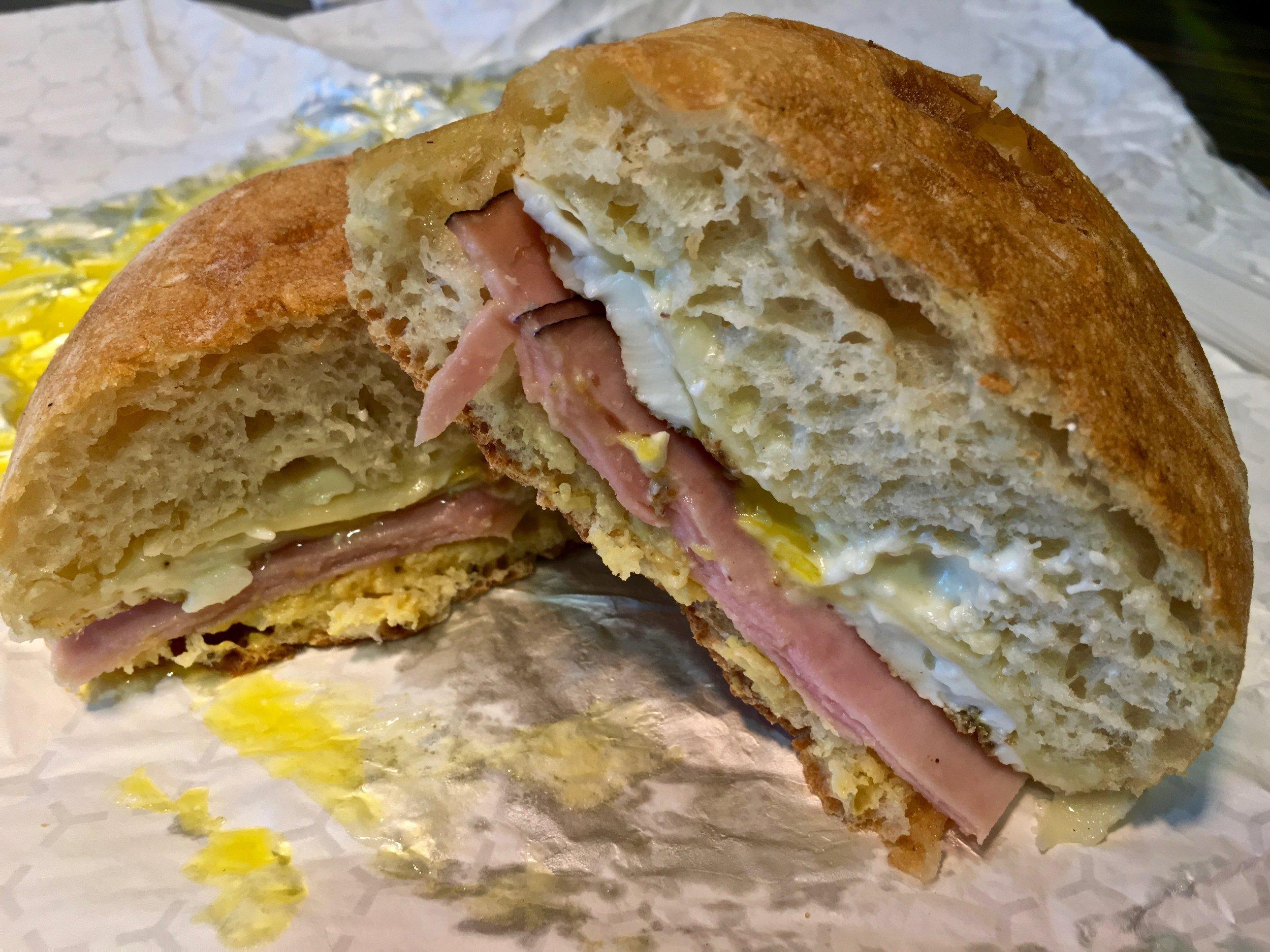 croque madame breakfast sandwich