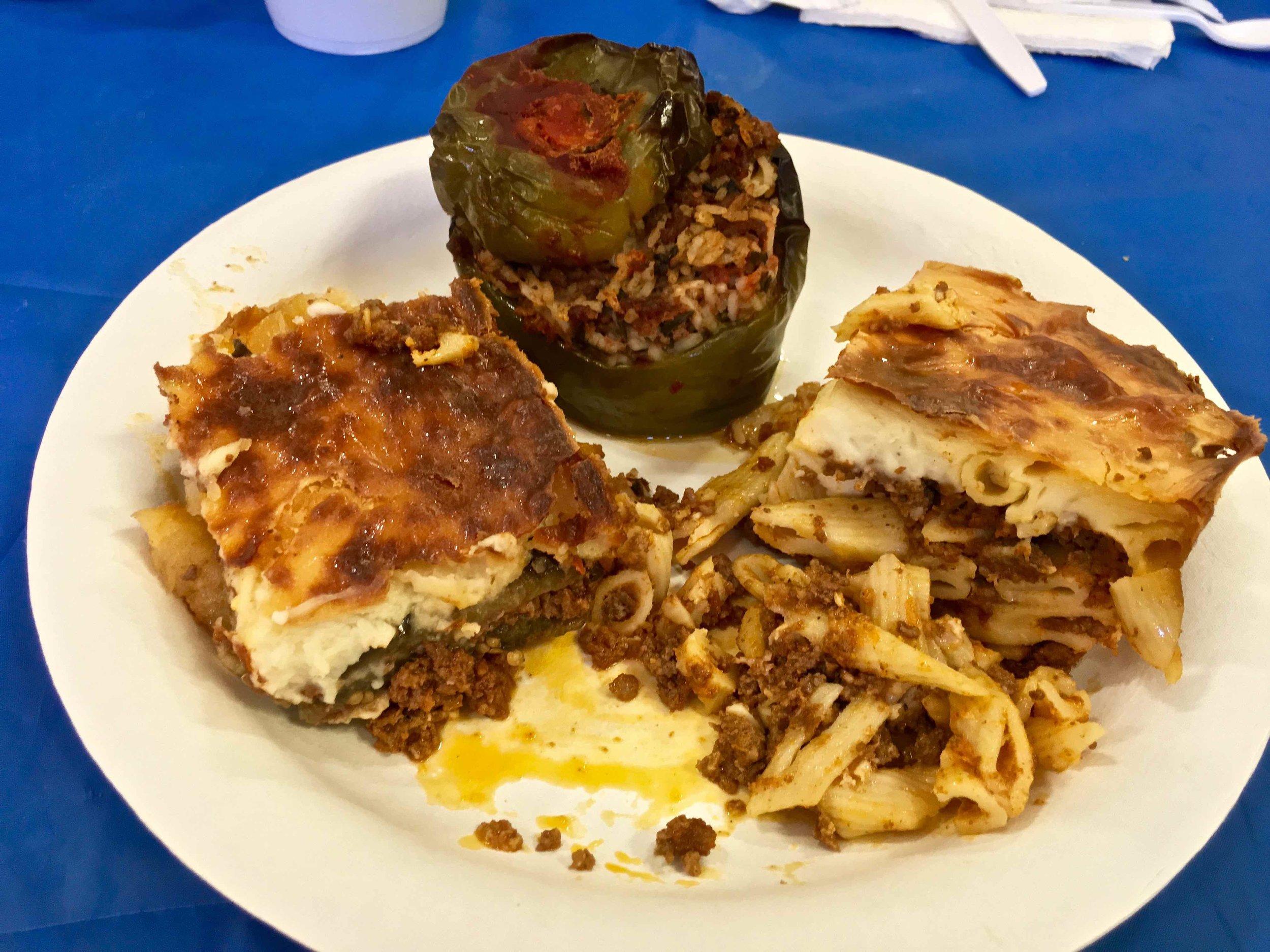 Greek food plate