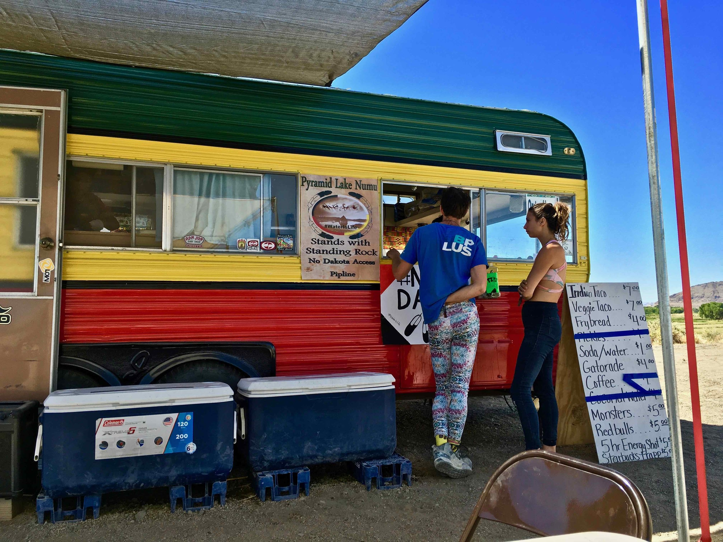Indian taco stand in Nevada